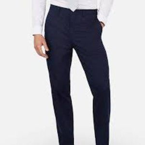 Classic Navy Cotton Blend Performance Stretch Suit